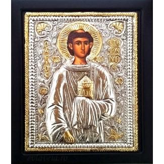 B3 - Icoana Argintata / Aurita 19x24 cm Sfantul Stefan