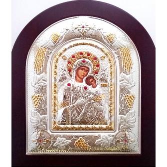 Icoana Argintata 22x18 cm - Maica Domnului Izbavitoarea