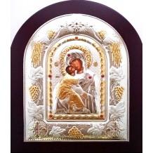 Icoana Argintata 22x18 cm - Maica Domnului din Vladimir