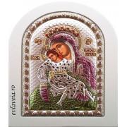 Icoana Argintata 10X14 cm - Maica Domnului cu Pruncul