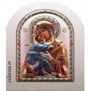 Icoana Argintata 20X15 cm Maica Domnului de la Vladimir