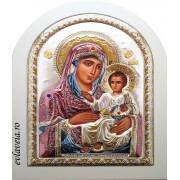B3 - Icoana Argintata 26X19.5 cm - Maica Domnului Ierusalim