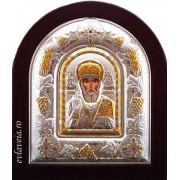 Icoana Argintata 13X11 cm - Sfantul Ierarh Nicolae