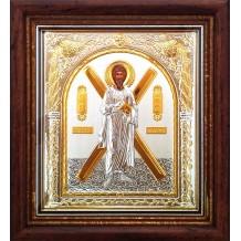 C10 - Icoana 23X25 cm Argintata/Aurita Sfantul Apostol Andrei