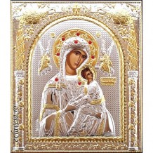 Icoana Argintata 18X15.5 cm Maica Domnului Izbavitoarea
