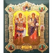 Icoana Medalion 15X18 cm Sfintii Arhangheli Mihail si Gavriil
