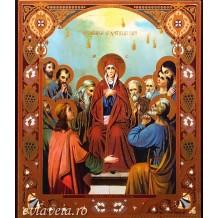 Icoana Litografie Pogorarea Sfantului Duh 10 X 12 cm