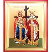 Icoana Pictata 19x25 cm Sfintii Imparati Constantin si Elena