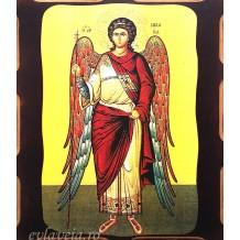 Icoana Pirogravata 10X13 cm Sfantul Arhanghel Mihail