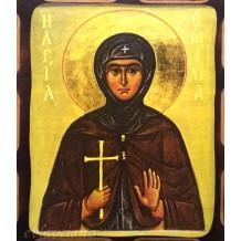 Icoana Pirogravata 10X13 cm Sfanta Cuvioasa Emilia
