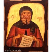 Icoana Pirogravata 10X13 cm Sfantul Antonie cel Mare
