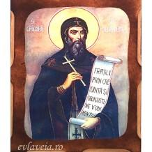 Icoana Pirogravata 10X13 cm Sfantul Grigorie Decapolitu