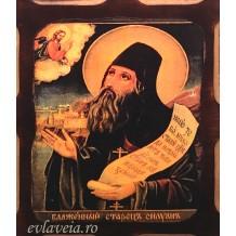 Icoana Pirogravata 10X13 cm Sfantul Siluan Athonitul