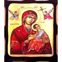 Icoana Pirogravata 10X13 cm Maica Domnului Izbavitoarea