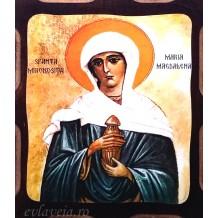 I1 - Icoana Pirogravata 16X21 cm - Sfanta Mironosita Maria Magdalena