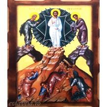 I26 - Icoana Pirogravata 16X21 cm - Schimbarea la Fata a Domnului