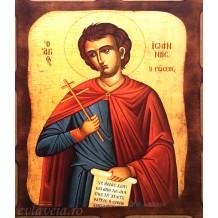 Icoana L1 Pirogravata 16X21 cm - Sfantul Ioan Rusul