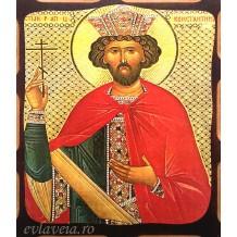 Icoana L1 Pirogravata 16X21 cm - Sfantul Imparat Constantin