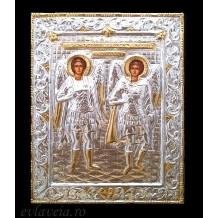 F1 - Icoana 19X24 cm - Sfintii Arhangheli Mihail si Gavriil