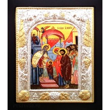 I39 - Icoana 19X24 cm Intrarea Maicii Domnului în Biserica