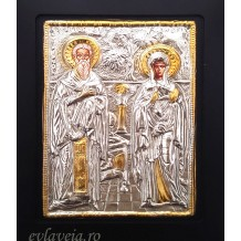 Icoana 19X24 cm - Sfintul Ciprian si Sfanta Iustina