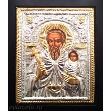 I12 - Icoana cu Rama Neagra 19X24 cm Sfantul Stelian