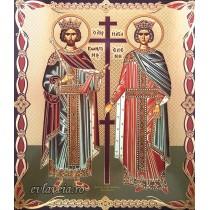 Icoana 20.5X 24.5 cm Sfintii Imparati Constantin si Elena