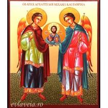 Icoana Sfintii Arhangheli Mihail si Gavriil 11X13 cm