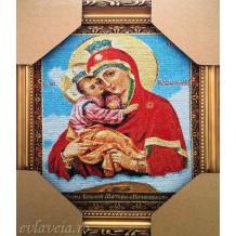 Icoana Goblen 26X21 cm Maica Domnului cu Pruncul