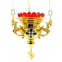 Candela cu lant aurita 11 x 10 cm