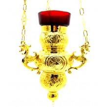 Candela cu lant aurita 11 x 19 cm