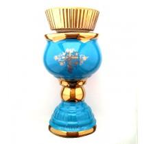 Candela ceramica cu pahar 17 cm