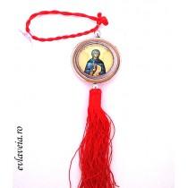 Medalion auto rotativ cu Sfanta Parascheva de la Iasi