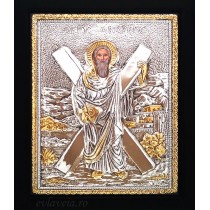 B2 - Icoana Argintata / Aurita 19x24 cm Sfantul Apostol Andrei