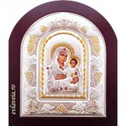 C8 -Icoana Argintata 22x18 cm - Maica Domnului Ierusalim